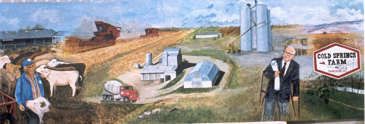 1970 cold springs farm historical mural sold dorothy for Telephone mural 1970