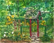 Through the Gate to the Sunflower Garden   Dorothy dhunter Adams   2018Copy