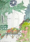 Garden Shed Watercolour Study