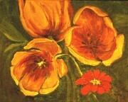 Tulip Study in Orange   Dorothy dhunter Adams