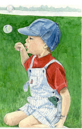 Blowing Bubbles  SOLD