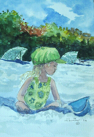 Child on the Beach   Dorothy dhunter Adams   100 4559