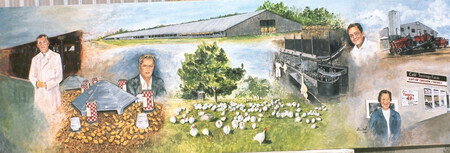 1960 Cold Springs Farm Historical Mural   SOLD