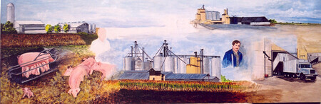 1980 Cold Springs Farm Historical Mural   SOLD