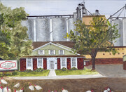 1990 Cold Springs Historical Farm Mural  -  Detail middle section