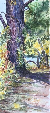 COTTONWOOD Along The Thames   Dorothy dhunter Adams  SOLD