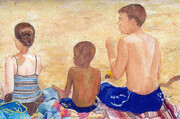 Family At The Beach   - Erin, Max & Brian  Dorothy dhunter Adams  SOLD