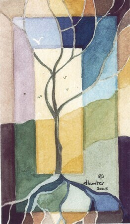fractured painting   tree   Dorothy dhunter Adams at hilda's   Copy