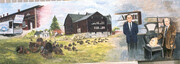 1950 Cold Springs Farm Historical Mural   SOLD