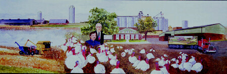 1990 Cold Springs Farm Historical Mural   SOLD