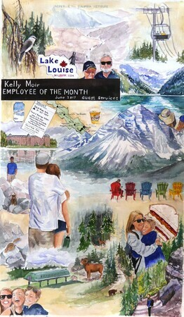 Memories of Lake Louise   Montage   Dorothy dhunter Adams   SOLD