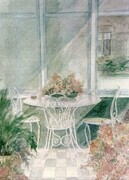Nanny's Table   watercolour   Dorothy dhunter Adams  SOLD