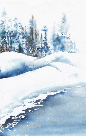 Snow covered Brook   Dorothy dhunter Adams   scan IMG