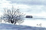 Winter Barn   Dorothy dhunter Adams 2002  SOLD